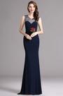 Carlyna Blue Sweetheart Beaded Sleeveless Prom Mermaid Dress (E60405)