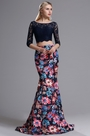 eDressit Two-piece 3/4 Sleeves Floral Mermaid Prom Formal Dress (02164668)