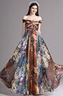 eDressit Floral Off Shoulder Pleated Summer Printed Dress (X07151720)