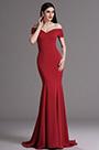 eDressit Burgundy Off Shoulder Mermaid Formal Prom Dress (00165217)