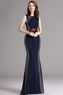 Carlyna Dark Blue Beaded Mermaid Prom Dress (E62105)