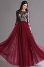 eDressit Burgundy Embroidery Illusion Neckline Beaded Prom Dress (02164817)