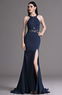 eDressit Dark Blue Halter Lace High Slit Ball Evening Dress (00165105)