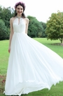 eDressit White Beaded Halter Wedding Evening Dress (01171107)