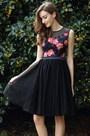 eDressit Elegant Black Flower Girl Party Dress (04170300)