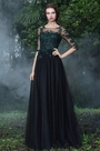 eDressit Black Formal Gowns with Green Lace Appliques (26171200) a5b3bbfbc