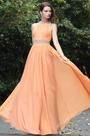 eDressit Sexy Halter Orange Beaded Occasion Dress (00171110)