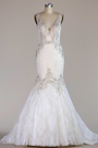 eDressit Plunging V Neck Lace Mermaid Wedding Dress (F04014435)
