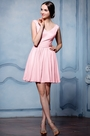 eDressit Simple pink V Cut Cocktail Party Dress (07156401)