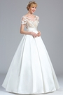 eDressit Short Sleeves Lace Applique Wedding Dress (01170707)