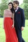 eDressit Red Beaded Chiffon Christmas Party Dress (36170102)