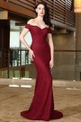 eDressit Off Shoulder Sexy Burgundy Lace Dress Ball Gown (00171917)