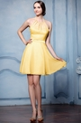eDressit Yellow Halter Cocktail Bridesmaid Dress (07156503)