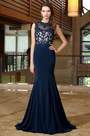 eDressit Blue Sweetheart Formal Gown with Lace Appliques (02171705)