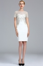 eDressit White Short Sleeves Lace Appliques Cocktail dress (04173707)