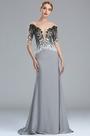 eDressit Grey Embroidey Beaded Mermaid Formal Dress with Sleeves (02173008)