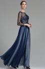 eDressit Robe de Bal Manches Longue Bleu Marine (02180405)