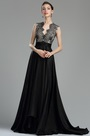 eDressit Beautiful Black Long Lace Evening Dressing Gown(00180600)
