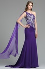 Sweet One Shoulder Purple Lace Appliques Birthday Dress(00180706)