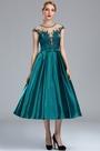 eDressit Cap Sleeves Peacock Blue Lace Appliques Cocktail Dress (04173305)