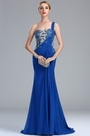 eDressit Glamourous One Shoulder Blue Lace Appliques Mermaid Dress (00173005)