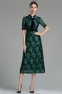 Black & Peacock Green Lace Mother of the Bride/ Groom Dress (26180104)
