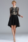 eDressit Black Long Sleeves Overlace Cocktail Party Dress (04173500)