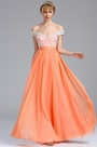 eDressit Off  the Shoulder Tangerine Lace Appliques Evening Dress (00173310)