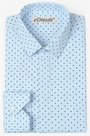 eDressit Custom Blue 100% Cotton Men Shirt (29180805)