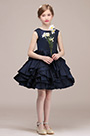 eDressit Navy Blue Layered Wedding Flower Girl Mini Dress(28191005)