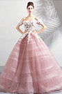 eDressit Sexy Off Shoulder Pink Puffy Party Ball Gown Dress (36199146)