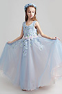 eDressit Light Blue Sleeveless Children Wedding Flower Girl Dress (27196205)