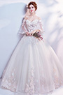 eDressit Sexy OFF Shoulder Sleeves Embroidery Wedding Bridal Dress (36196507)