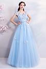 eDressit Light Blue Lace Applique Women Party Dress (36194005)
