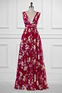eDressit Plunging V-Cut Strap Print Floral Evening Dress(00183168B)