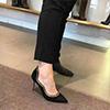 eDressit Women Suede Golden Edge Toe Closed High Heels Shoes (0919044)