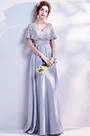eDressit Elegant Cape Beaded Formal Long Evening Gown (36191932)