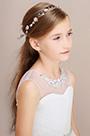 eDressit Floral Beads Girl Headwear Hair Hoop (13190235)