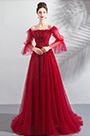 eDressit Red Off Shoulder Sleeves Party Evening Dress (36198602)