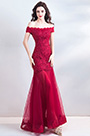 eDressit Sexy Red Off Shoulder Lace Applique Prom Ball Gown (36201502)