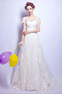 eDressit Short Sleeves Lace Bridal Wedding Dress (36196807)