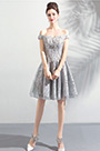 eDressit Off Shoulder Grey Embroidery Party Cocktail Dress (35196308)