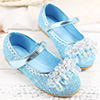 Girl's Round Toe Sequins Flat Flower Dance Shoes (250053)