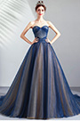 eDressit Blue Corset Sweetheart Pleated formal Party Ball Dress (36201805)