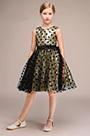 eDressit Gold Round Neck Short Flower Girl Dress With Spots (28193024)