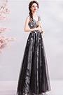 eDressit Black Floral V-Cut Tulle Formal Party Evening Dress (36211300)