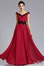 eDressit Cap Sleeve V-Neck Red Evening Formal Dress (02183102)