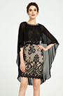 eDressit Black Lace Cape Design Cocktail Party Dress (03190600)