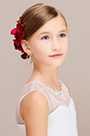 eDressit Artificial Flower Red Girl Comb Headwear(13190302)