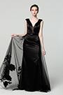 eDressit New Black V-Neck Overlay Prom Gown Evening Dress (00190400)